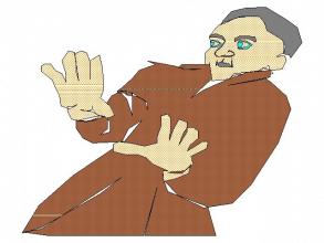 Fear-stricken Man
